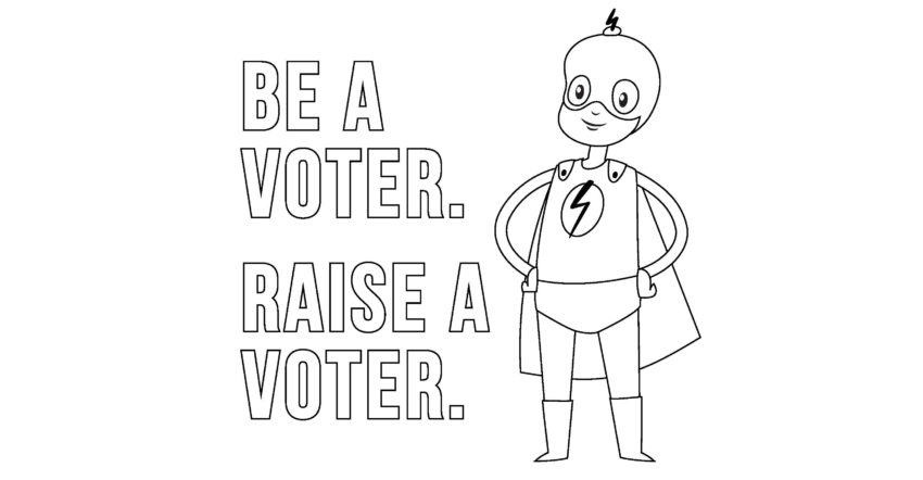 Superhero Coloring Page for Voting