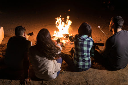 camp fire latino friends health risks