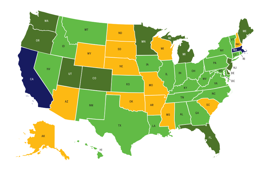 Does Your State Support Walking, Biking, and Physical Activity