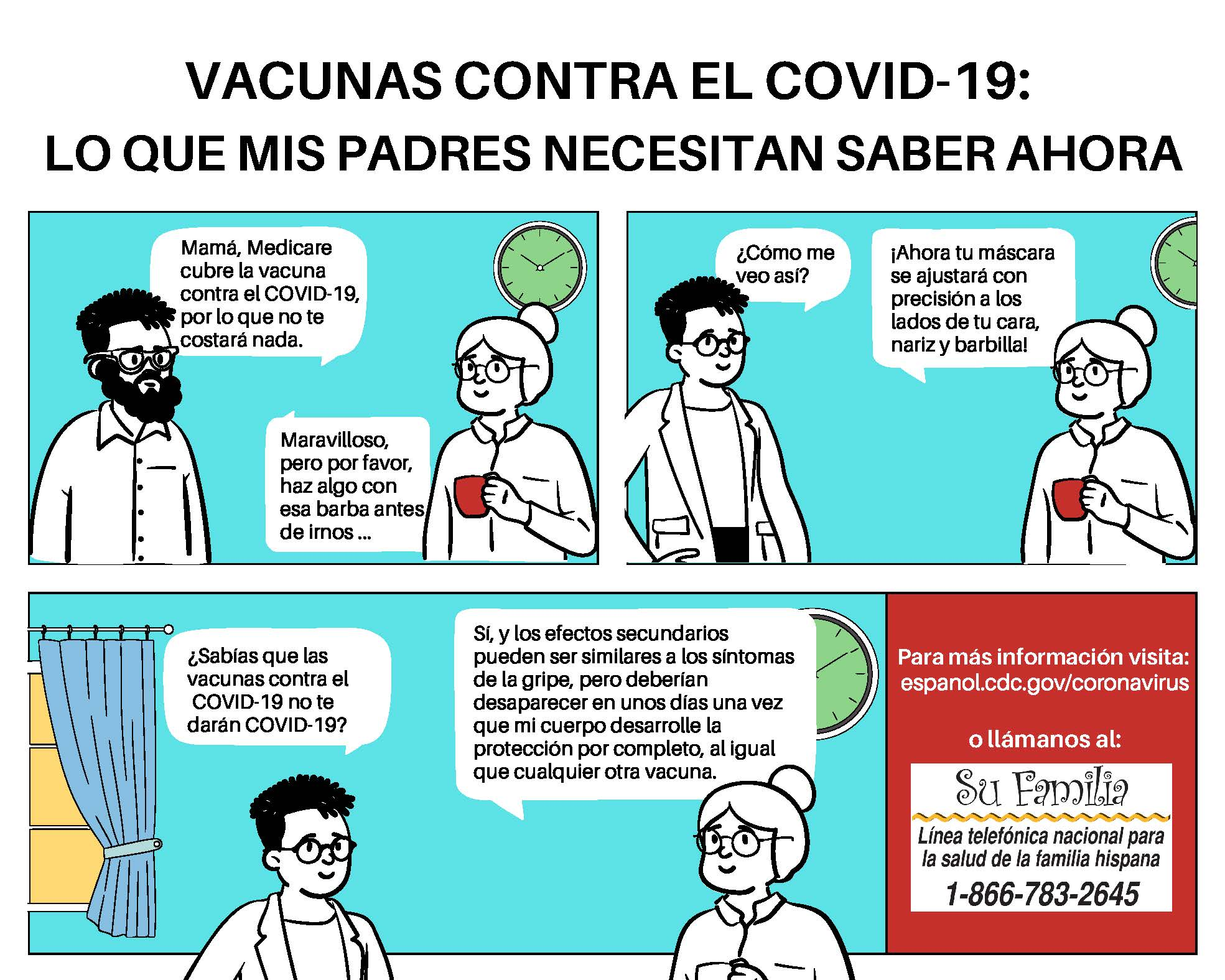 what my parents should know about COVID-19 vaccines - Latinos - Spanish via National Alliance for Hispanic Health